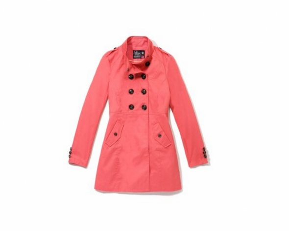 różowy malinowy płaszczyk XS house S wiosna super