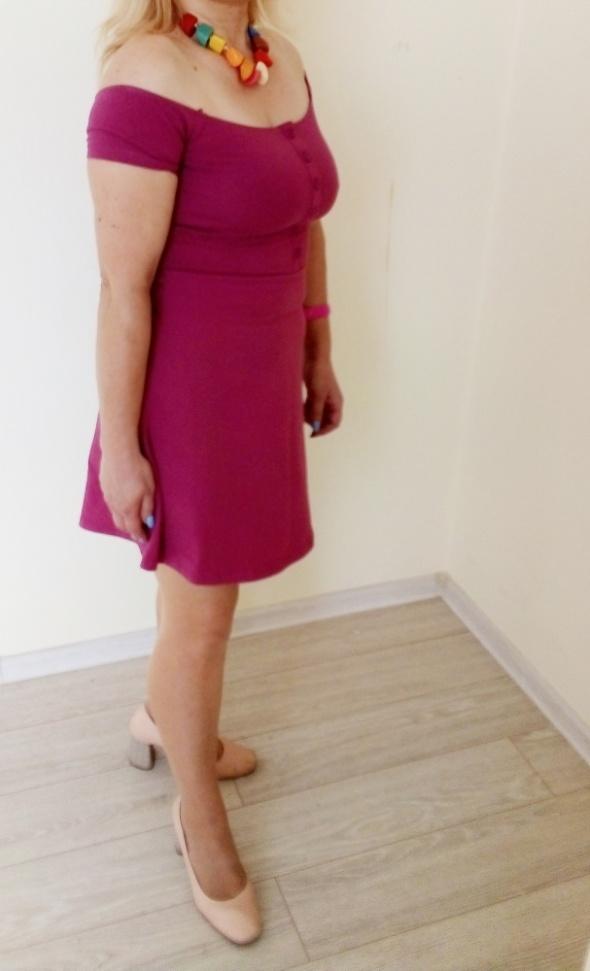 Sukienka nowa z metką kolor malinowy brudny róż...