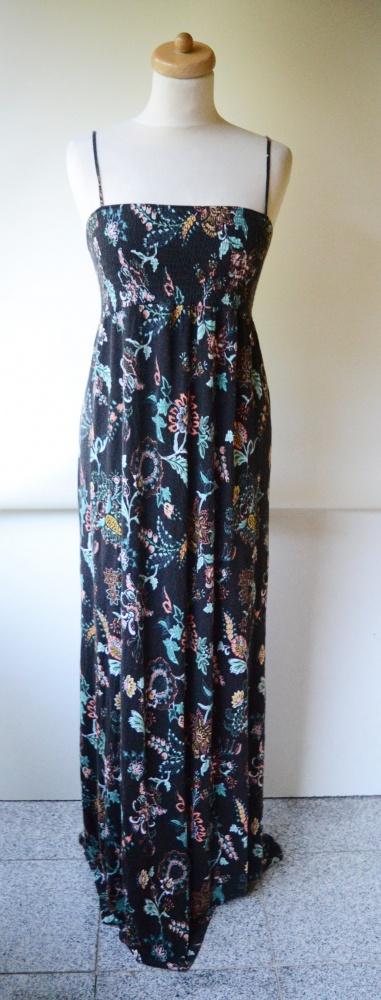 Sukienka Kwiaty Długa M 38 H&M Mama Ciążowa Brzuszek