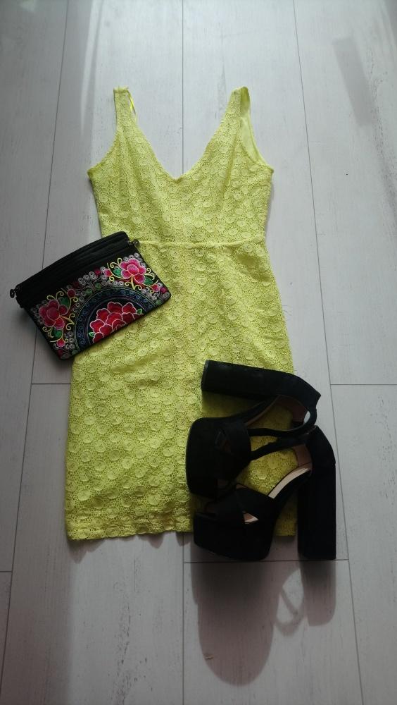 Neonowa sukienka Zara