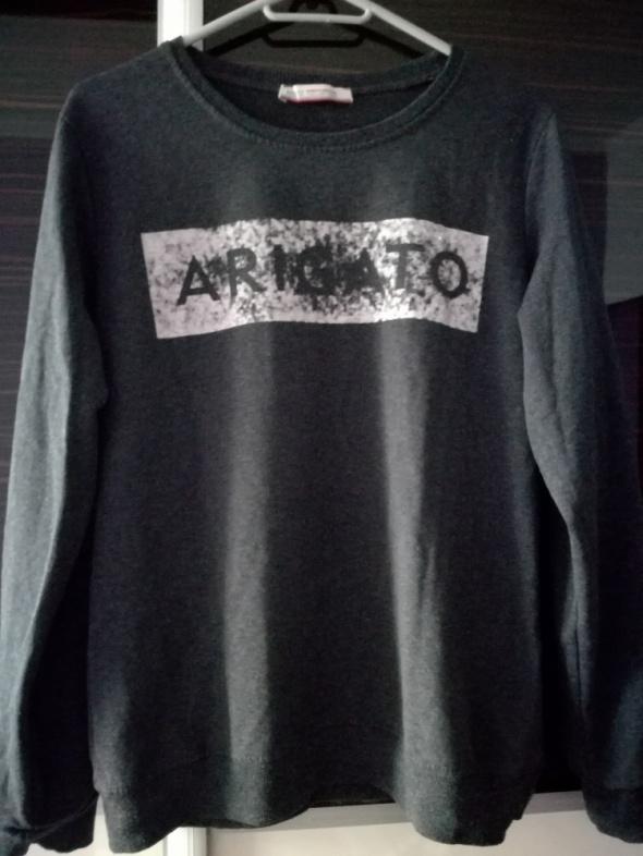 Bluzy Grafitowa Bluza M