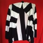 biało granatowy kardigan sweter w pasy