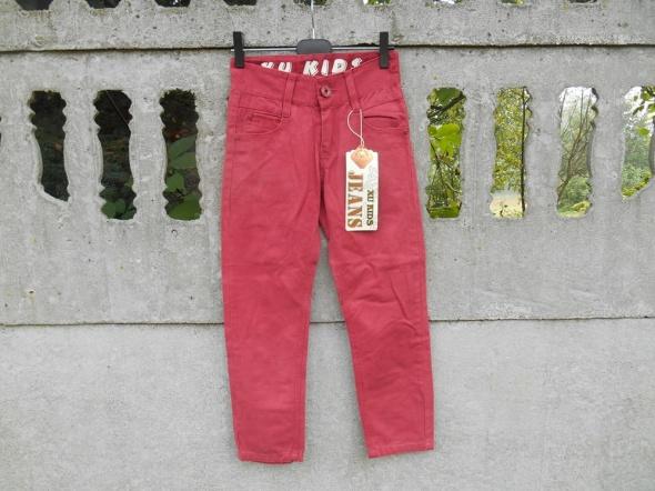 Nowe Spodnie 128 na 8 lat ceglaste