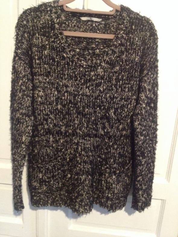 Swetry sweter z kieszonkami XL