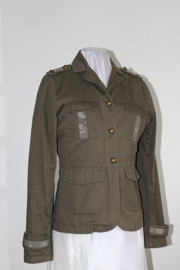 Marynarka żakiet narzutka khaki oliwkowa military