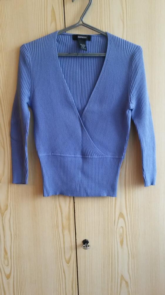 Niebieski sweter kopertowy S