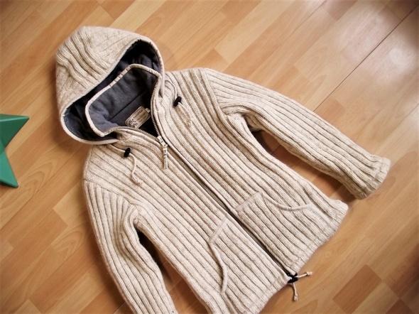 THC Natural Line gruby sweter kurtka wełna owcza S