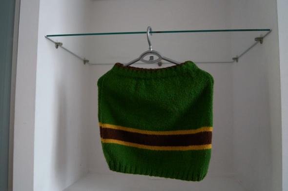 Wełniana zielona mini