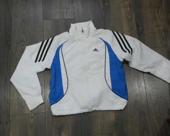 Ładna bluza Adidas biała 140 146