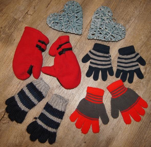 Rękawiczki zimowe zestaw rozm 3 do 6 lat