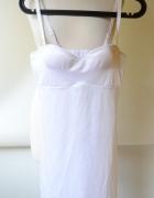 Body Modelujące 80B Białe Sukienka Ellos Halka...