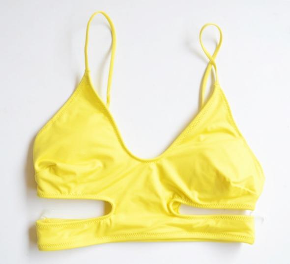 Strój Kostium Kąpielowy Żółty H&M Góra XS 34 Bananowy