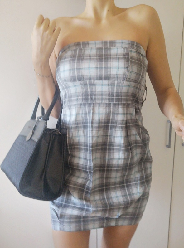 Sukienka damska w krate uniwersalna