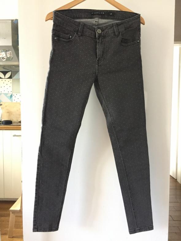 Spodnie Nowe szare jeansy w groszki RESERVED rozm 40
