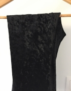 Welurowe czarne legginsy H&M rozm M...