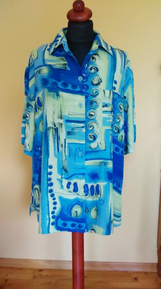 Koszula w abstrakcyjny wzór 44 vintage