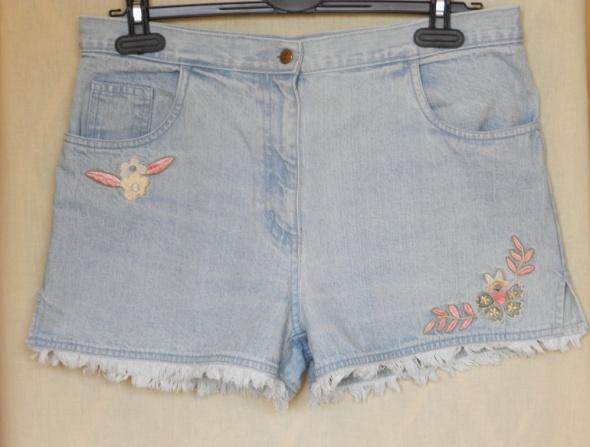 Haftowane szorty dżinsowe vintage retro