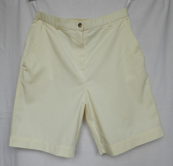 Pastelowe szorty cotton Vintage L Wysoki stan
