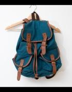 Niebieski plecak worek morski duży vintage...