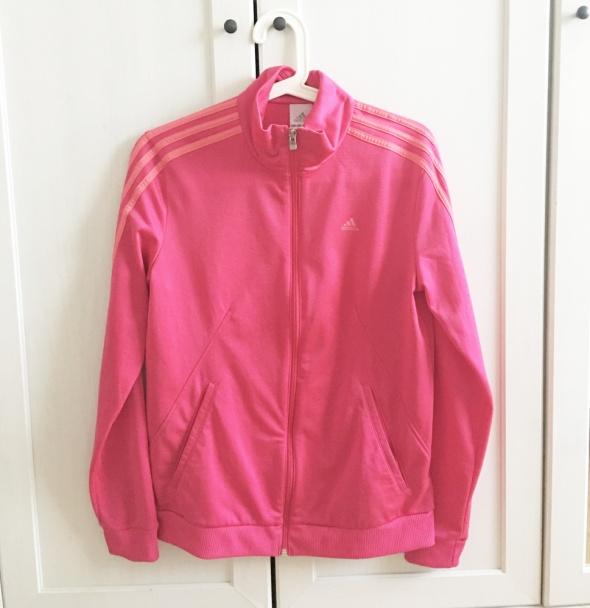 Bluzy Bluza Adidas na zamek różowa