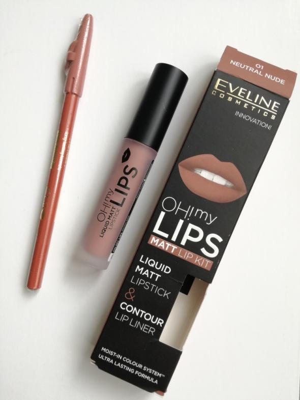 Pomadka i konturówka Eveline Oh my lips