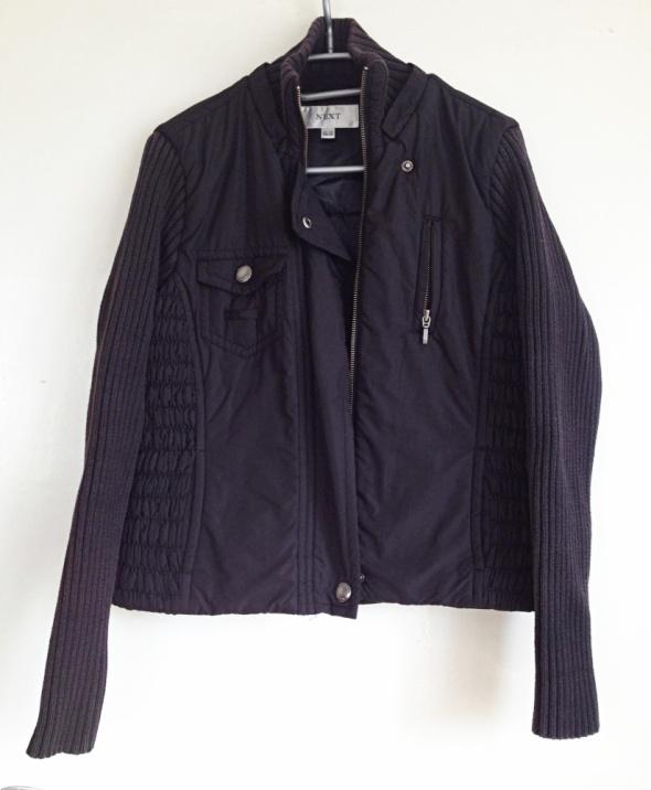 NEXT kurtka pikowana 2w1 czarna czarny M L XL 38 40 42 taliowana wiosenna jesienna ciepła