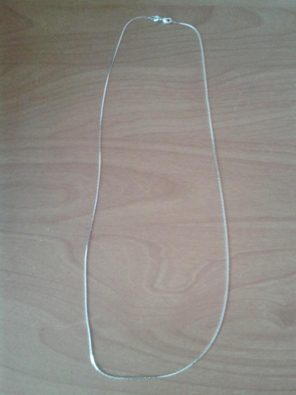 Nowy platerowany srebrny długi łańcuszek linka 66cm grubość 1mm