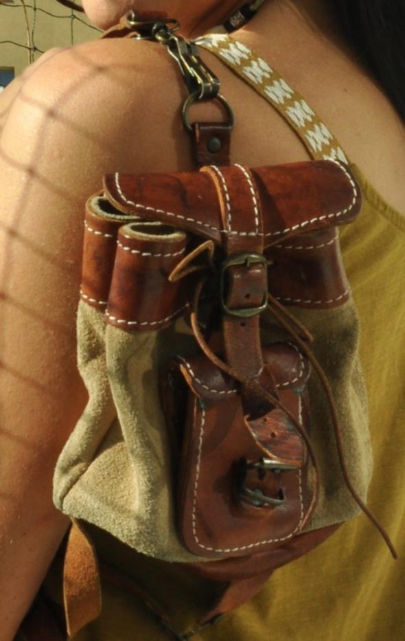 mały skórzany plecak