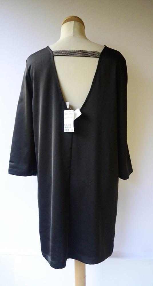Sukienka NOWA H&M XL 42 Odkryte Plecy Mała Czarna Elegancka