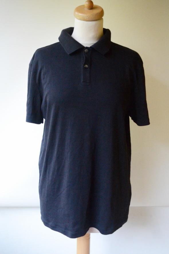 Koszulka Polo Czarna L 40 Calvin Klein Slim Fit Bluzka