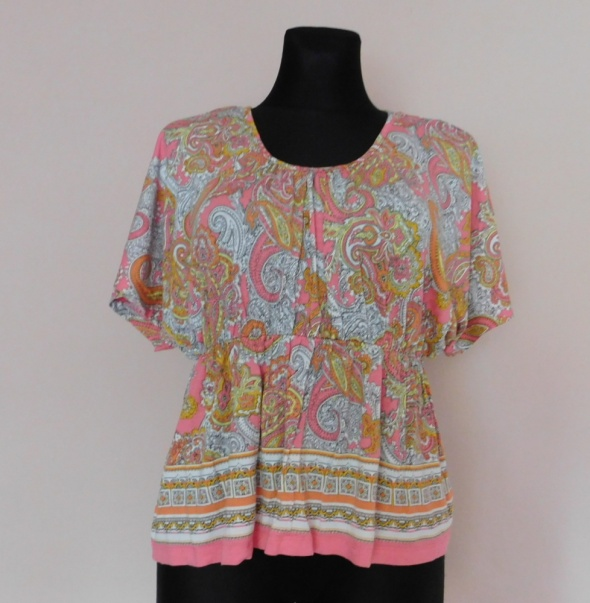 H&M bluzka wzory kolorowa 38...