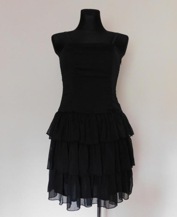 Suknie i sukienki Miss Harvey czarna sexy sukienka midi 38