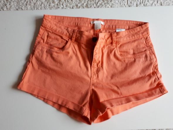 Spodenki Pomarańczowe szorty H&M