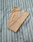Beżowe zamszowe spodnie...