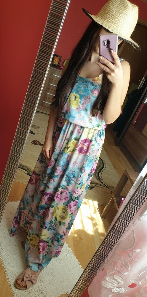 Sukienka w kwiaty maxi rozmiar S