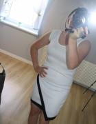 sukienka biel i czerń...