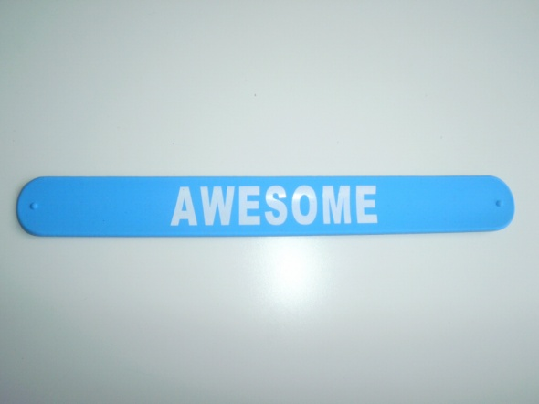 Sinsay niebieska opaska bransoletka awesome napis