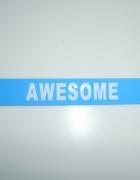 Sinsay niebieska opaska bransoletka awesome napis...