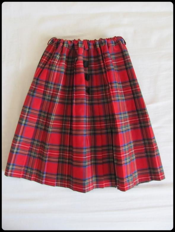 Spódnica szkocka krata dziewczynka stan idealny