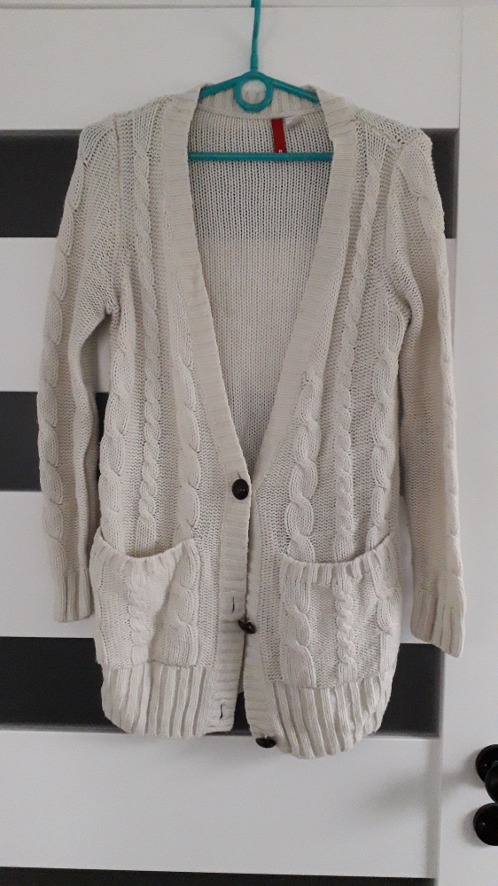 Swetry Bezowy kardigan H&M rozm S