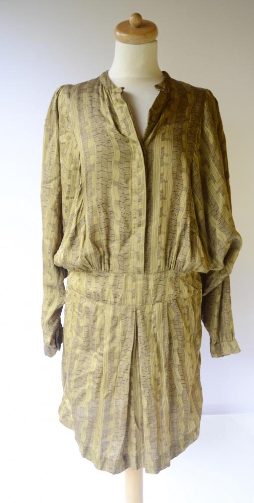 Sukienka Wzory Noa Noa M 38 Wzorki Oliwkowa Modna