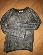 sweterek bershka xxs xs s brokat pleciony