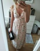 Sukienka kwiatki Zara dluga rozm XS...