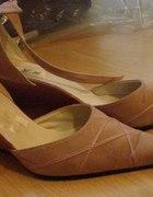 buty różowe na koturnie 40...