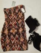 Sukienka Drapowana Obcisła PULL&BEAR r 36 S