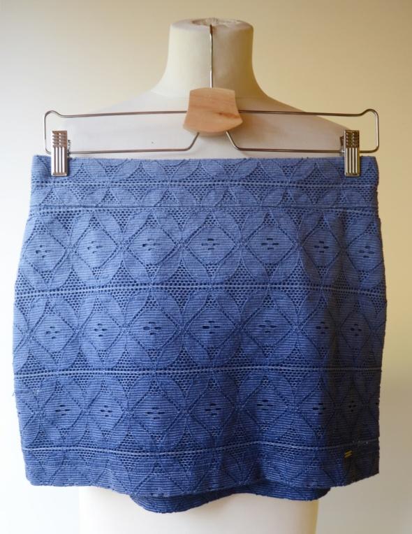 Spódnice Spódniczka Ażurowa Niebieska Hollister M 38 Ombre