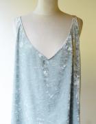 Bluzka Miętowa H&M XL 42 Welurowa Welur Oversize...