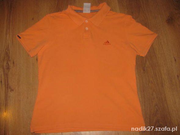 Super fajny sportowy t shirt polo Adidas M tanio
