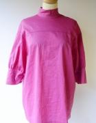 Bluzka Różowa Fuksja Elegancka Zara Woman S 36 Wizytowa...