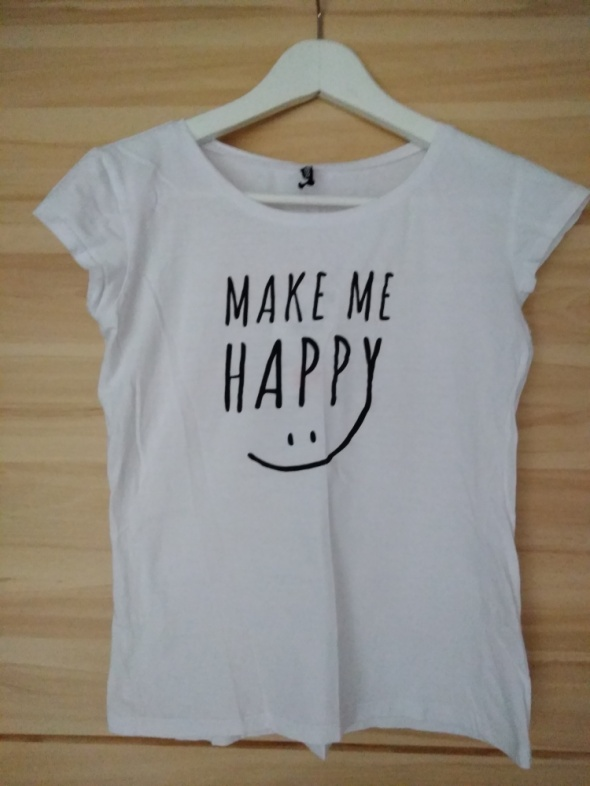 T-shirt biala koszulka tshirt z nadrukiem sinsay 36